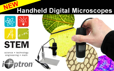 Our new line of handheld digital microscopes are now avialable-- ready for school!